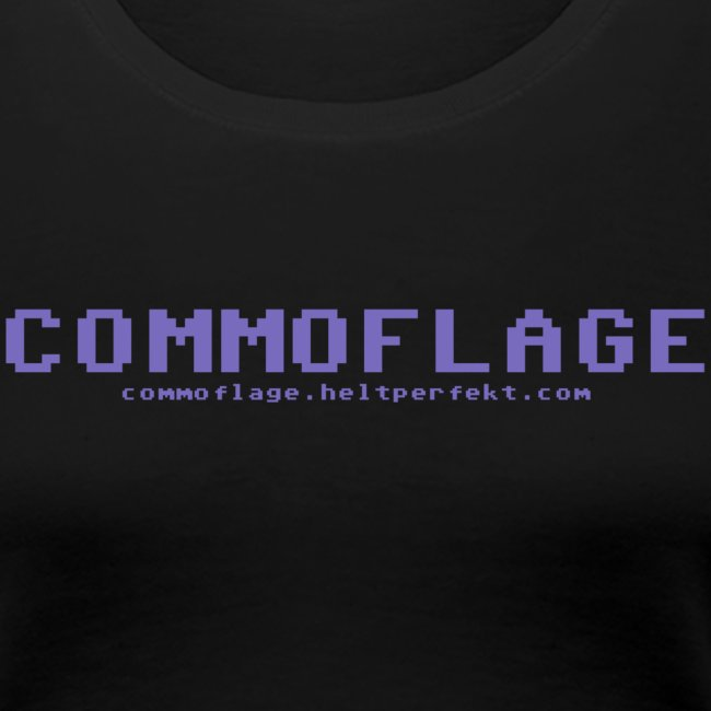 Commoflage t shirt logo blue png
