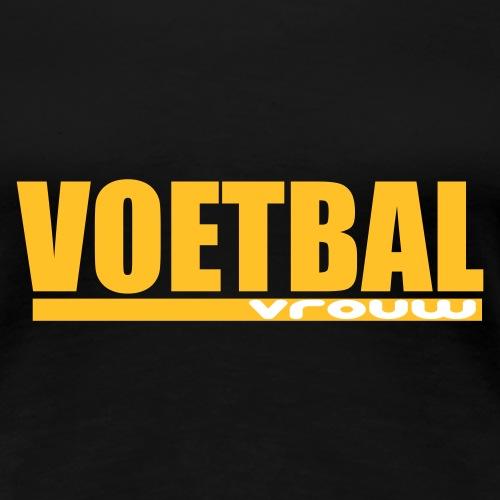 voetbal vrouw - Vrouwen Premium T-shirt