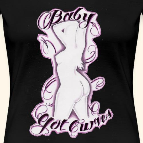 baby got curves - Frauen Premium T-Shirt