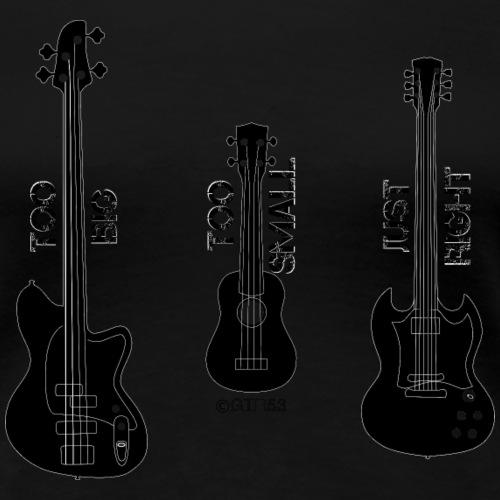 Goldilocks Guitar (Black) - Women's Premium T-Shirt