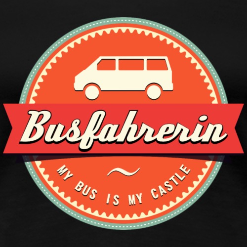 Busfahrerin Retro - Frauen Premium T-Shirt