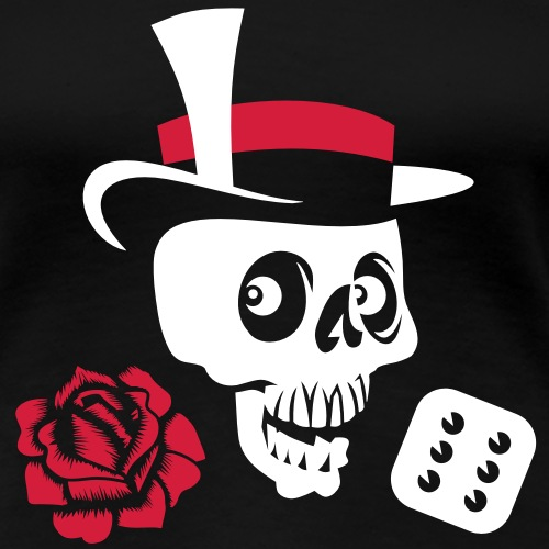 Skull and Rose - Frauen Premium T-Shirt