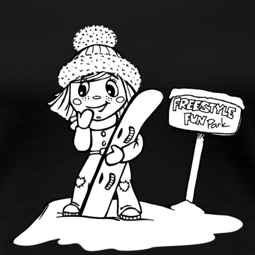 Angel Snowboard weiß - Frauen Premium T-Shirt