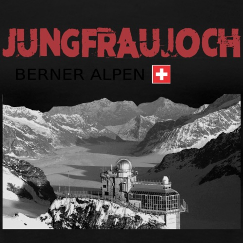 Jungfraujoch Schweizer Berge T-Shirt drucken - Frauen Premium T-Shirt