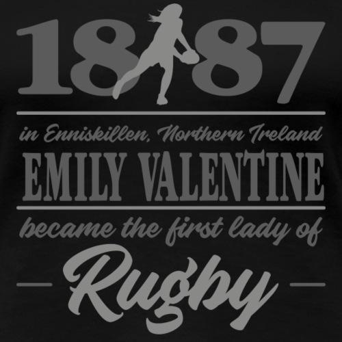 Marplo Emily Valentine Grey - Maglietta Premium da donna