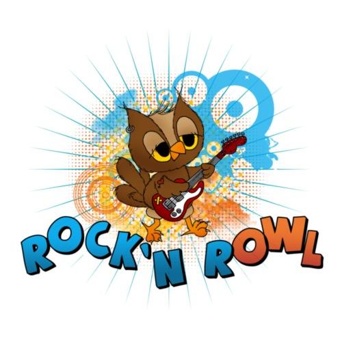 Eule mit Gitarre - rock'n rOWL - Frauen Premium T-Shirt