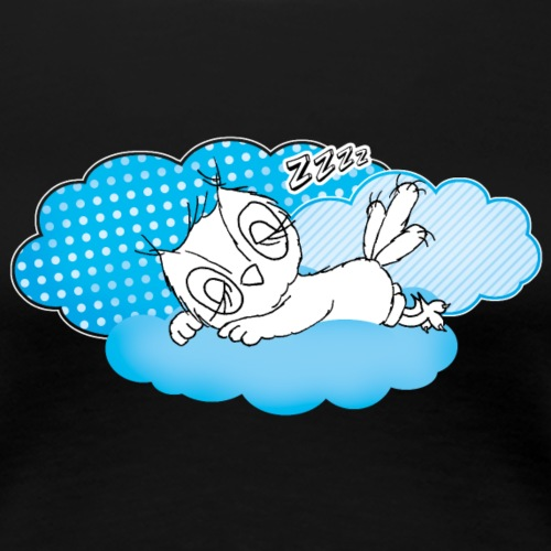 schlafende Eule Zzzz - Frauen Premium T-Shirt