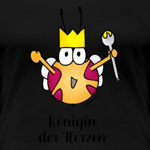 Königin der Herzen - Frauen Premium T-Shirt