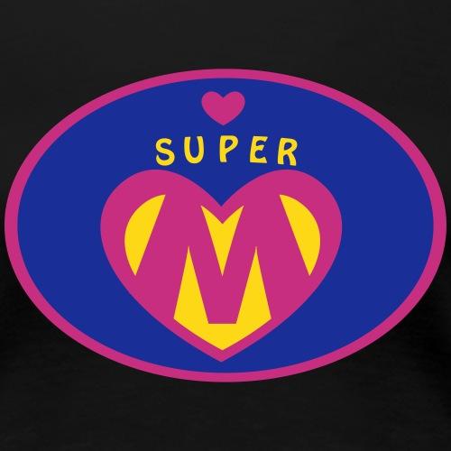 Super Mama Geschenk - Frauen Premium T-Shirt