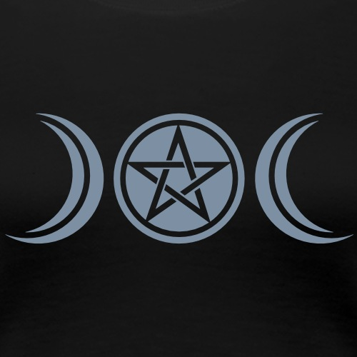 Mond Göttin Symbol, Pentagramm, Wicca, Natur - Frauen Premium T-Shirt