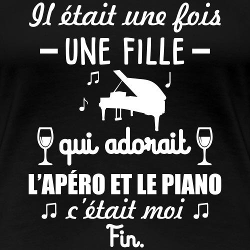 Il était une fois piano apéro, pianiste, musique - T-shirt Premium Femme
