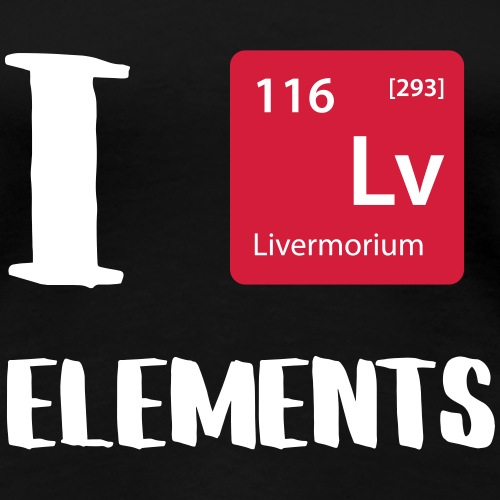 I love Elements - Frauen Premium T-Shirt