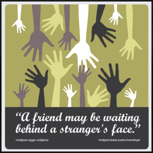 A friend may be waiting behind a stranger's face. - Dame premium T-shirt