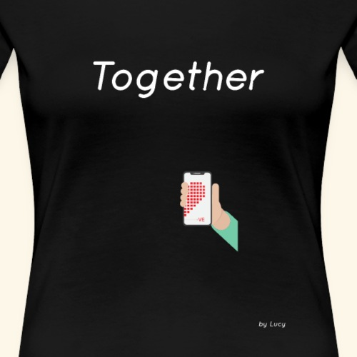 Partnershirt Teil 2 together unstoppable M - Frauen Premium T-Shirt