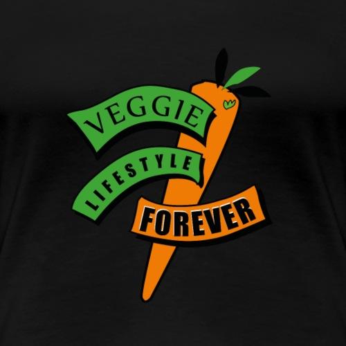 Veggie Möhre Vintage - Frauen Premium T-Shirt