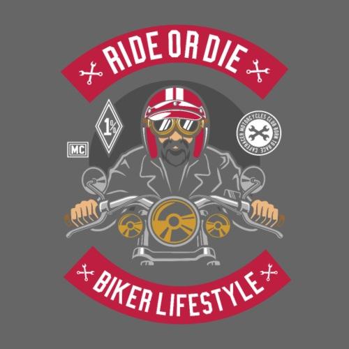 Biker Ride or Die with The Biker Lifestyle - T-shirt Premium Femme