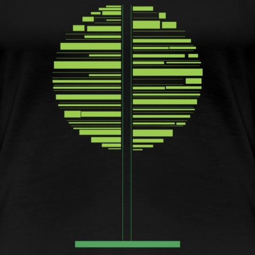 Grønt træ - Dame premium T-shirt