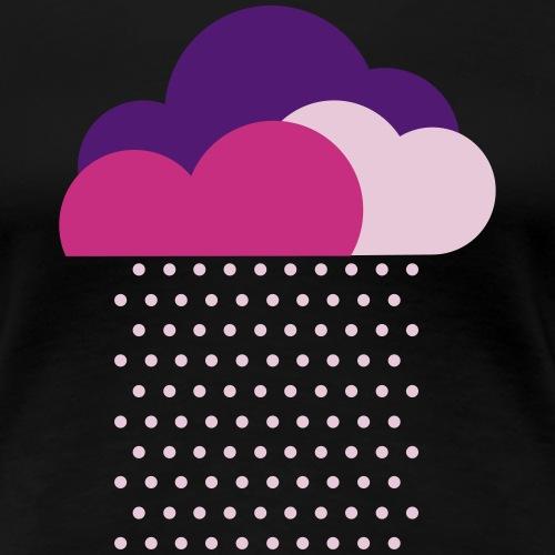 Lila Wolken, Wir lieben buntes Wetter! Regen Wolke - Frauen Premium T-Shirt