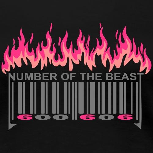 code barre 666 flamme - T-shirt Premium Femme