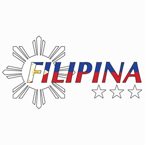 Filipina Flag Print Sun And Stars Bright - Frauen Premium T-Shirt