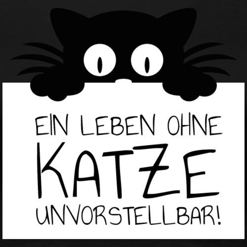 Ein Leben ohne Katze unvorstellbar! Geschenk - Frauen Premium T-Shirt