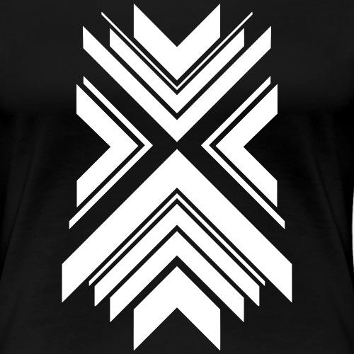 Geometric Destination Mono - Frauen Premium T-Shirt
