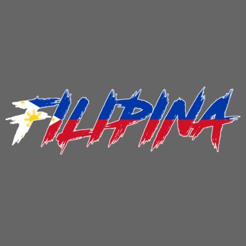 Filipina Brush Print - Frauen Premium T-Shirt