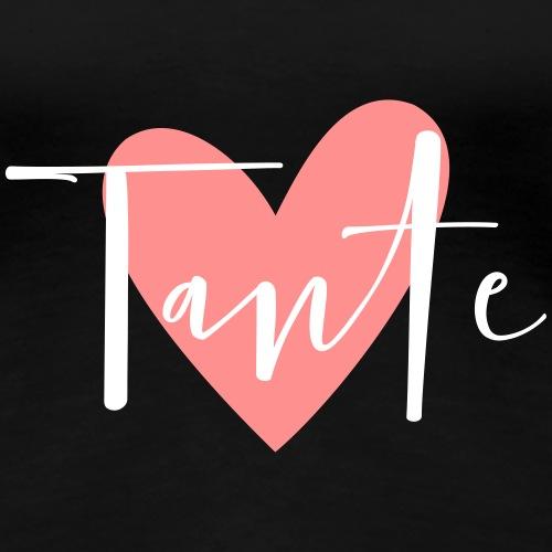 Tante Herz Patentante Liebe Geschenk - Frauen Premium T-Shirt