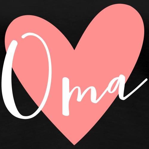 Oma Herz Liebe Geschenk - Frauen Premium T-Shirt
