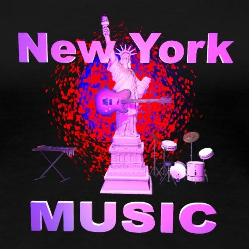 New York MUSIQUE - T-shirt Premium Femme
