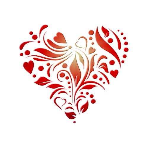 motif coeur rouge