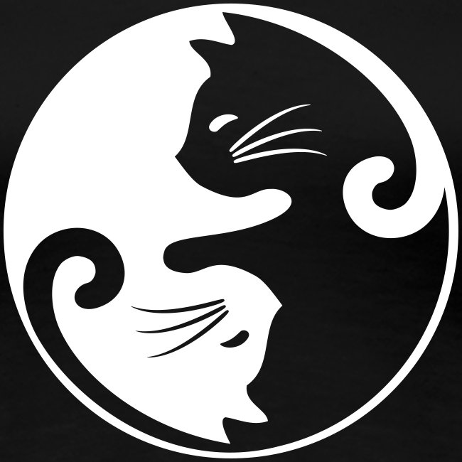 yin yang cat - Frauen Premium T-Shirt