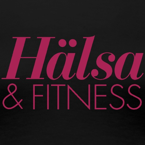 Hälsa & Fitness - Premium-T-shirt dam