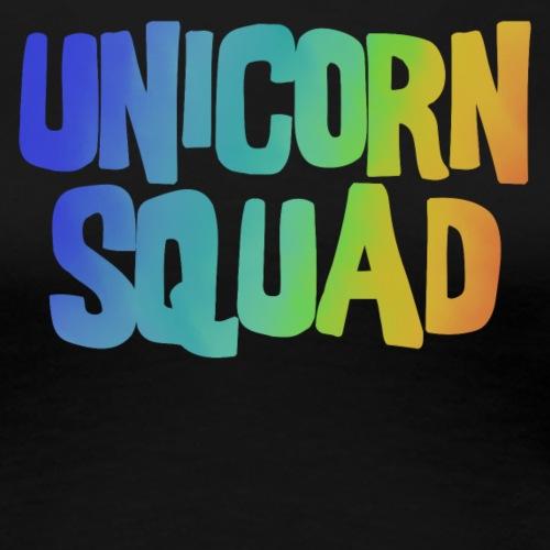 Unicorn Squad Regenbogen - Frauen Premium T-Shirt