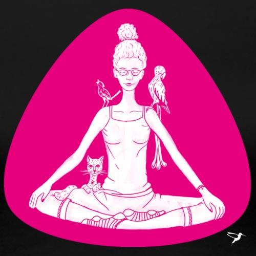 Meditierende mit Tieren - Frauen Premium T-Shirt