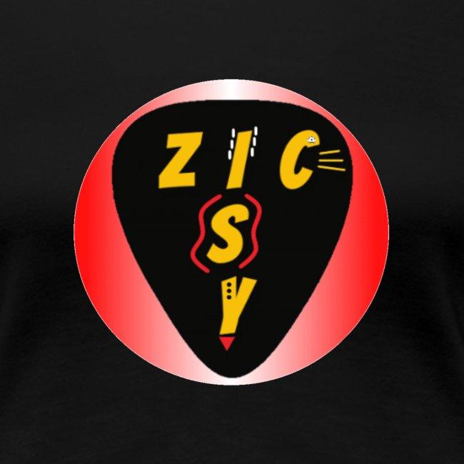 Zic izy rond dégradé rouge