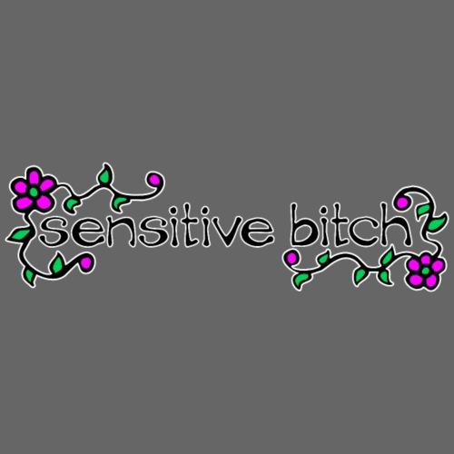 Sensitive Bitch (white outline) - Women's Premium T-Shirt