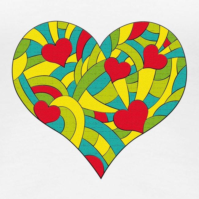 Herzen strukturiert