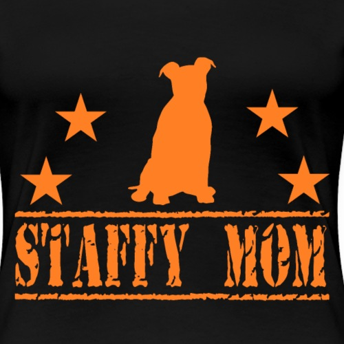 Staffy T-Shirt Stafford Mom - Frauen Premium T-Shirt