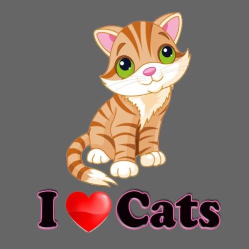 I love cats - Camiseta premium mujer