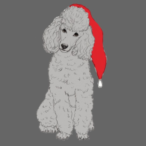 Poodle toy G - christmas - Dame premium T-shirt