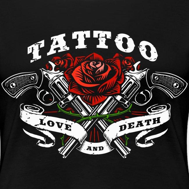 tattoo love roses rose pistols guns