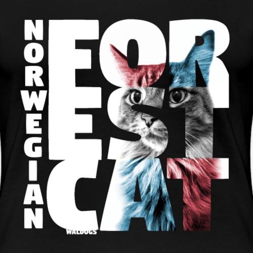 NASSU Forest Cat - Naisten premium t-paita
