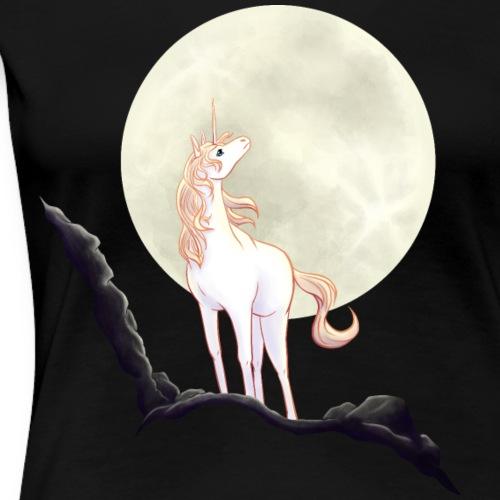 Einhorn vor Mond - Frauen Premium T-Shirt