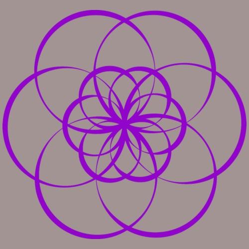 Fleur de vie violette - Chakra couronne - T-shirt Premium Femme