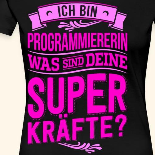 Programmiererin Superkräfte - Frauen Premium T-Shirt