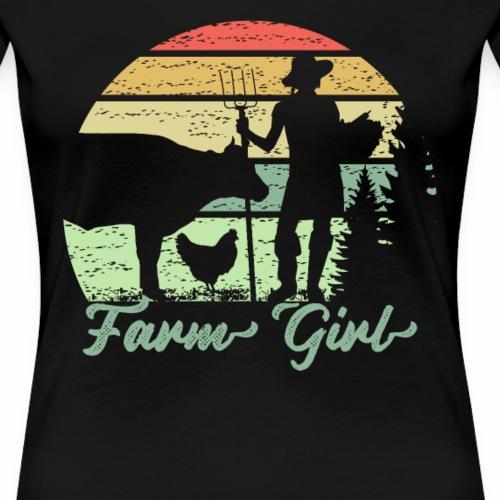 Farm Girl Shirt für Bäuerinnen und Landfrauen - Frauen Premium T-Shirt