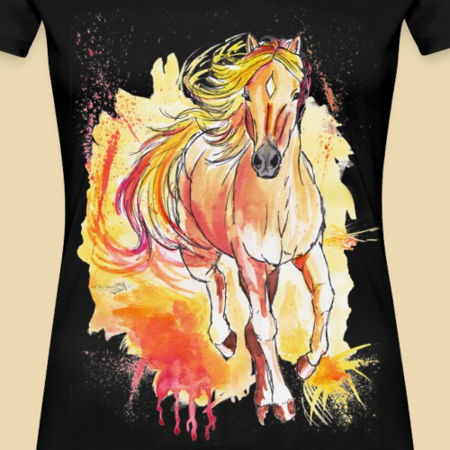 Haflinger on Fire - Frauen Premium T-Shirt