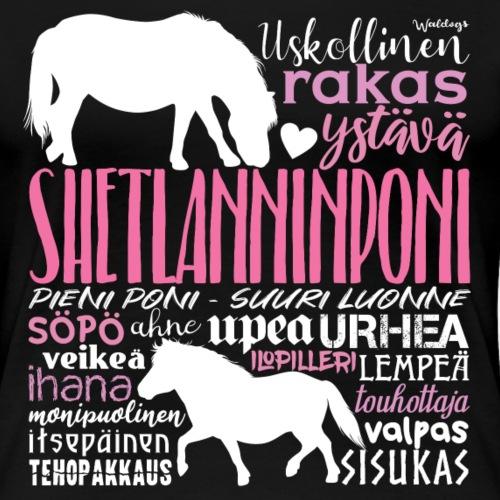 Sheltti Sanat Pink - Naisten premium t-paita