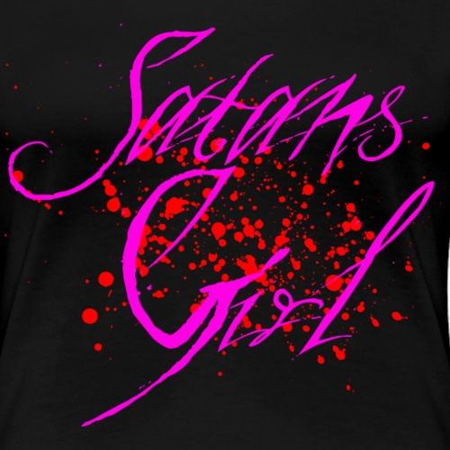 Satans Girl - Pink - Red Blood - Frauen Premium T-Shirt